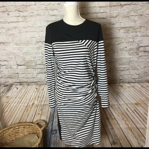 Donna Karen black and white dress